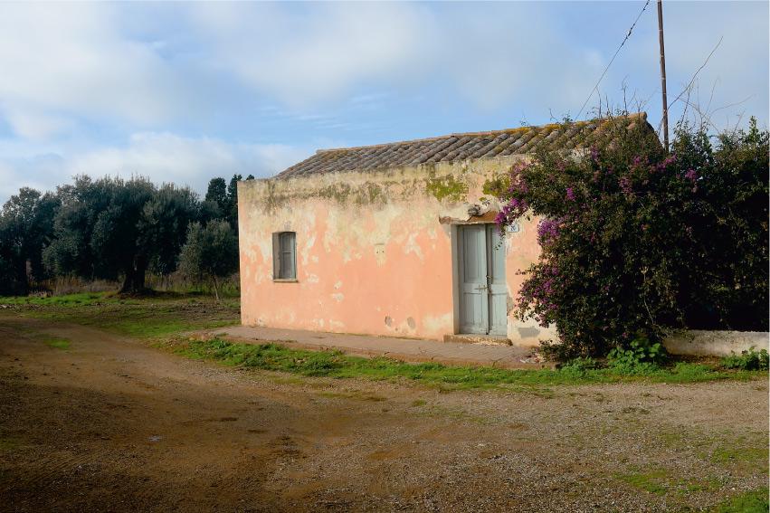paesaggio lungo l'itinerario Strada per Porto Pino a Masainas