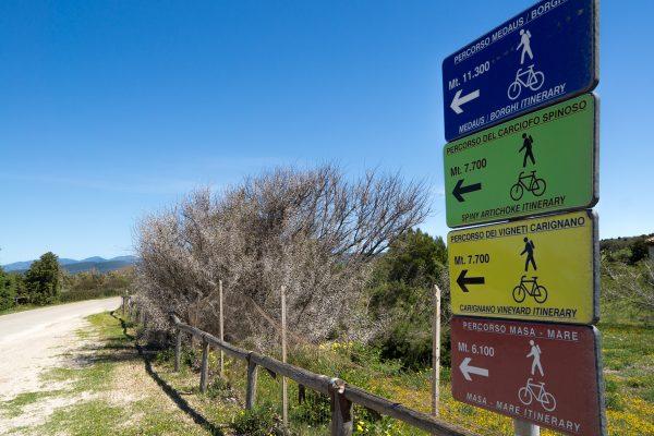Itinerari ciclo pedonali Masainas